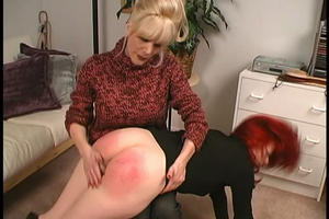 pacific force spanking on pantyhose