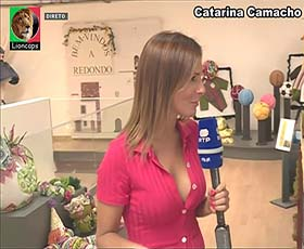 Catarina Camacho a sensual apresentadora da Rtp