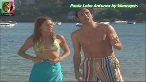 Paula Lobo Antunes sensual em biquini na novela Mar Paixão