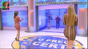 Lenka e Teresa Medeiros sensuais no Preço Certo