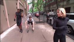Kelly Ripa - Live! With Kelly and Michael (2014-5-26) exercise clip, 36 caps, 1 GIF