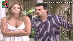 Amandha Lee sensual na novela Bicho do Mato
