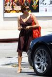 Eva Longoria shows nice pokies and cleavage going out and about in Hollywood