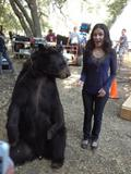 "Shannon Woodward - TwitPic with a Bear on the set of ""Raising Hope"" - Sep 4, 2012"