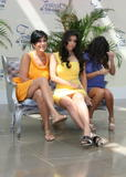 Kim Kardashian shows her white panties under yellow dress at Keeping Up With the Kardashians Photocall in Monte Carlo